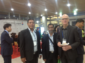 KiLGA's EO, posing with representatives from the Maldives and NZ at the UCLG ASPAC.